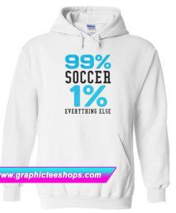 99% soccer 1 % everything else white Hoodie (GPMU)