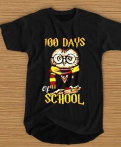 100 Days Owl of school Gryffindor Magic Wizard t shirt (GPMU)