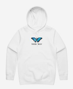 Yours Truly Blue Butterfly Hoodie (GPMU)