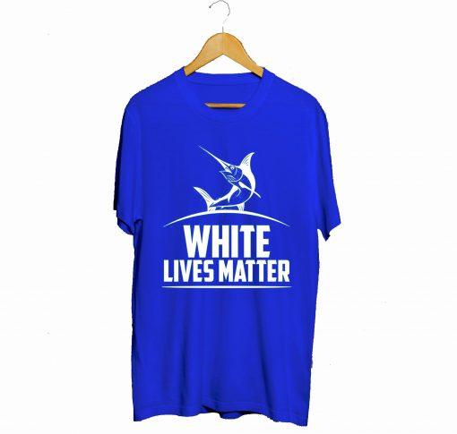 White Marlin lives Matter T-Shirt Blue (GPMU)